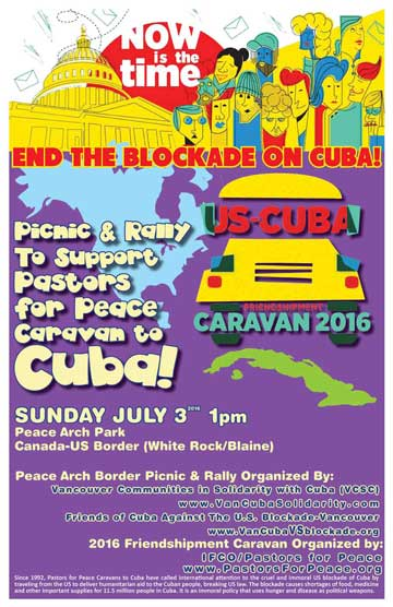 Pastors for Peace Caravan to Cuba!